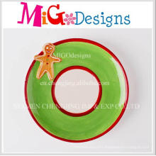 Fashion New Design Christmas Gift Ceramic Plate