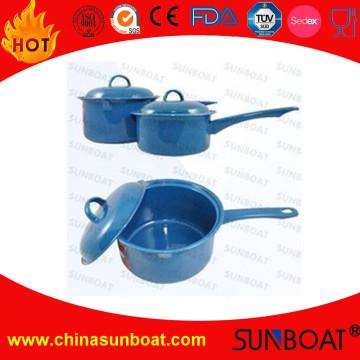 Emaille-Saucepot-Milch-Topf des Kohlenstoffstahl-2qt mit Deckel