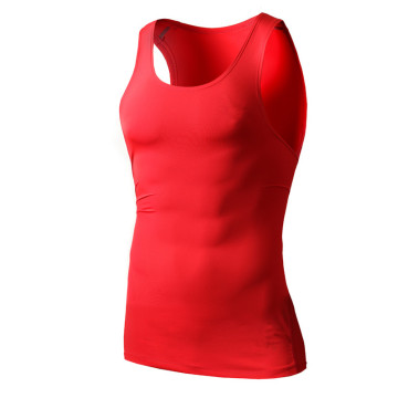 New arrivals cotton spandex custom gym mens top stringer