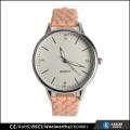 Damen Leder Armband Uhr Diamant, Edelstahl Gehäuse zurück Uhr Legierung
