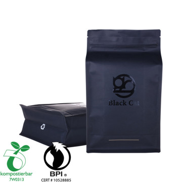 Heat Seal Flat Bottom Compostable Plastic Bag Jagung