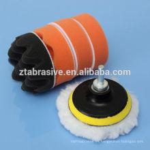 Kit de almohadilla de placa de pulido de respaldo de esponja M14 para pulir coche con adaptador de taladro