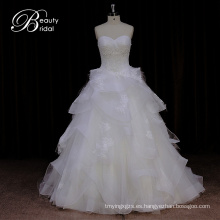 Dorisquees Alibaba Online Hot Sale Organza vestido de novia de China