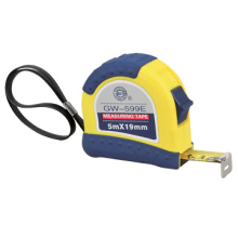 Steel tape measure with 2-injected  rubber cover