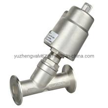 Válvula de assento de ângulo de controle pneumático de aço inoxidável