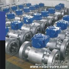 Válvula de bola forjada de tres piezas de alta presión