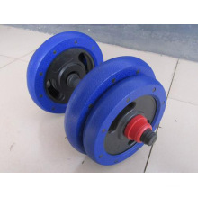 15kg 25kg Pair Plastic Iron Sand Dumbbell with PVC Bar