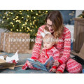 2017 hot sell family clothing set 100% cotton matching family christmas pajamas in adult size