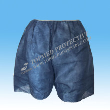 Disposable Nonwoven Blue Pants with Elastic, Pants for Medical Line