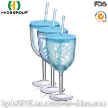 Gobelet acrylique transparent de 12 oz à double paroi