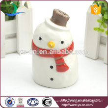 Presentes de Natal Holiday Snowman Ceramic Pepper Shaker Atacado
