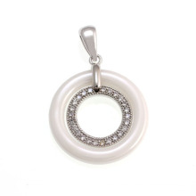 Ceramic and Silver Jewelry Pendant, 925 Sterling Silver Jewellery