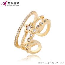 Elegante moda CZ Star 18k anillo de joyería de mujer chapado en oro -13667