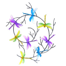 Attractive Dragonfly Wall Pastel Decoration for Home and Garden