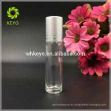 Rollo de cristal claro del aceite esencial de 5ml 8ml 10ml en la botella con la bola del acero inoxidable