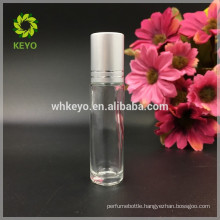 5ml 8ml 10ml essential oil clear glass roll on bottle with stainless steel ball