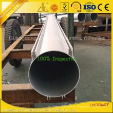 Profilé tubulaire en aluminium de forme ronde de 200 mm Od Grand Califoia