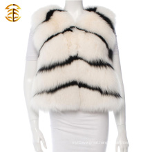 Women Fox Fur Coat Vest Gilet Shawl Women Winter Warm Leather Jacket Women Fox Fur Gilets