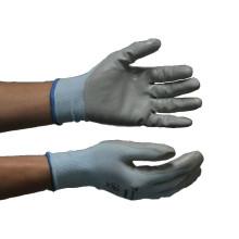 NMSAFETY 13G Nylon liner 1/2 cinza nitrilo palm revestido luva de jardim de segurança