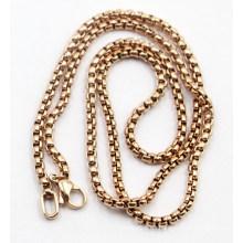Moda Rose Gold plateó la cadena de perlas Sq de acero inoxidable