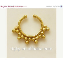 Delicate Brass Septum For Non Pierced Nose Indian Septum Ring