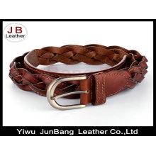 Cinturones de tejido de punto de cuero