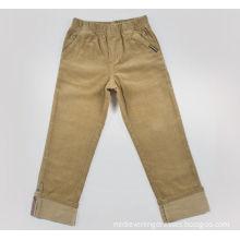 100% Cotton Childrens Clothes , Brown / Black Adjustable Waist