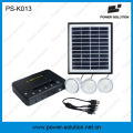4W 11V Solarpanel 3PCS 1W LED Solarglühlampen Solar Kit Home Solar System (PS-K013)