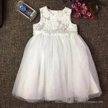 vestido de princesa de encaje blanco