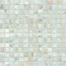 Tuile de la perle de la mosaïque de coquillage blanc (HMP67)