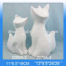 Creative ceramic home decoration in fox shape