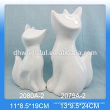 Decoração home creativa da cerâmica na forma da raposa