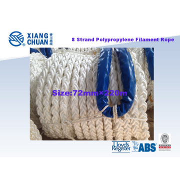 8 Strand 72mm 220m Polypropylene Filament Rope