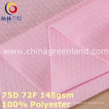 Tissu de maille tricoté par trame de polyester pour des vêtements de sport (GLLML383)
