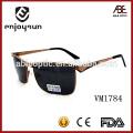 Mens style square shape frame Óculos de sol de marca italiana