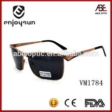 Мужская форма квадратная форма рамки Итальянские солнцезащитные очки бренда