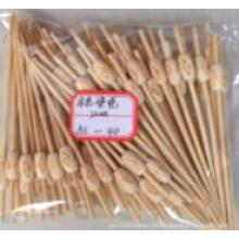 Palo de bambú de pirograma natural