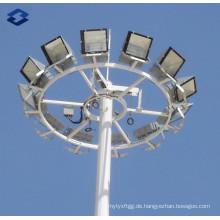 30m Galvanisierter Puderbeschichtung Hochmastbeleuchtung Stahlstange