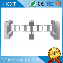China for Supermarket Swing Barrier Gate Optical Waist Height Automatic Turnstiles Swing Door supply to France Importers