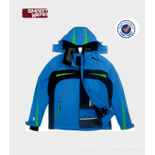 Transpirable impermeable talla grande ropa de esquí de una pieza chaquetas de nieve personalizadas