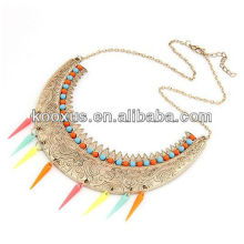 Moon shaped spike alloy necklace veneers