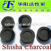 Fabricante directo de 33 mm de carbón redondo shisha, quema de larga duración, 6500 calory