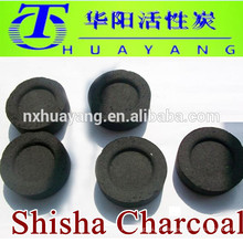 Прямой производитель 33мм круглые кальяна уголь,долгое время горения,6500 калорий