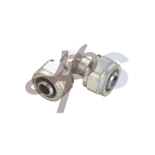 Brass compression double elbow fitting