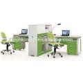 Office furniture manufacturer,office working desk furniture pearl white + parrot green,Office desks furniture design(JO-5008-2A)