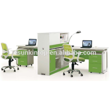 Office furniture manufacturer,office working desk furniture pearl white + parrot green,Office desks furniture design(JO-5008-2A)