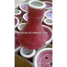 Cuvette en céramique sur stock shisha bol bol de tabac de narguilé bol