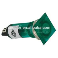 10mm LED Pilotlichttafelhalterung; 10mm Kunststoff-Kontrollleuchte quadratisch; 220 V Ofenkontrollleuchte
