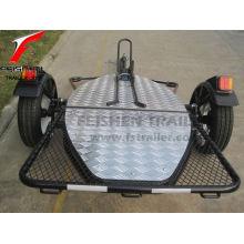 Klappbare Motorradanhänger MT501 für Motorrad (schwarz pulverbeschichtet)