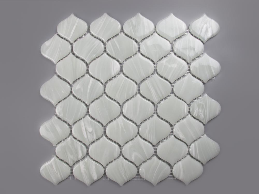 Rice White Arabesque Ungrouted Front